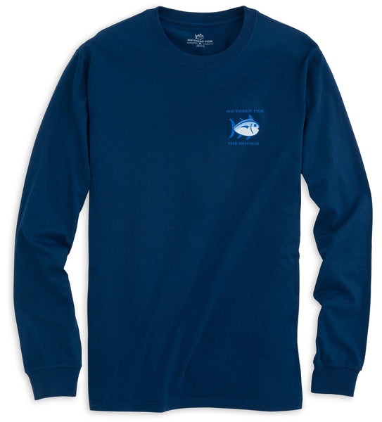 Southern Tide Long Sleeve Skipjack T-Shirt-Yacht Blue - Bennett's Clothing - 3