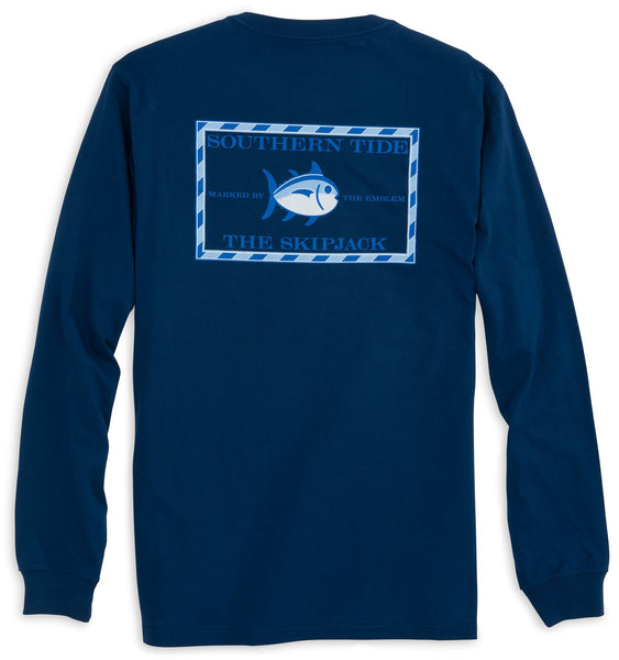 Southern Tide Long Sleeve Skipjack T-Shirt-Yacht Blue - Bennett's Clothing - 1