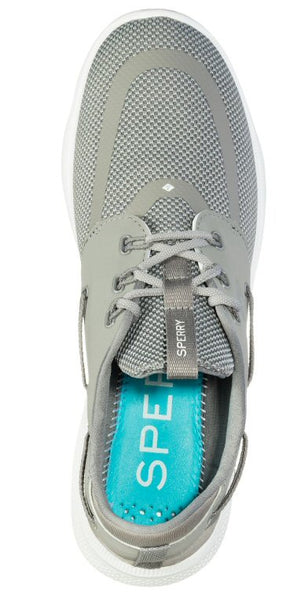 Sperry Top-Sider 7 Seas 3 Eye Mens Boat Shoe-Grey