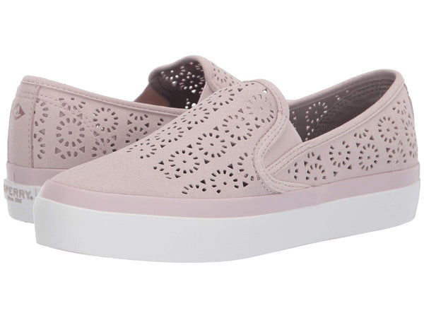Sperry Seaside Aerial Perf slip-on sneaker for women makes a stylish statement with ease. Shop Bennetts for a large selection of womens shoes and sandals with same day shipping..