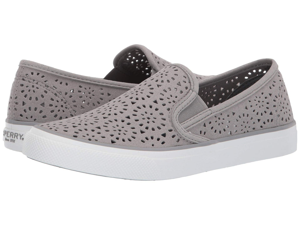 344dd305ab34 Sperry Seaside Perf slip-on sneaker for women makes a stylish statement  with ease.