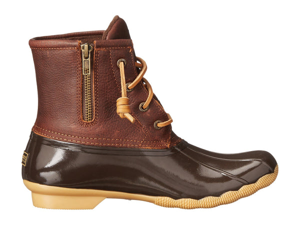 Sperry Womens Saltwater Duck boots-Tan-Dark Brown
