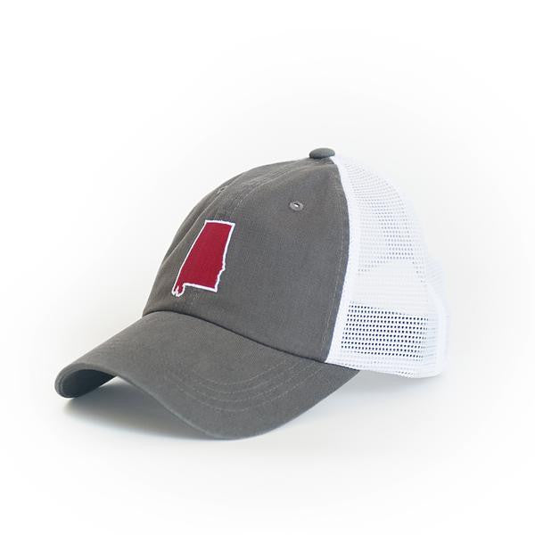 State Traditions Alabama Trucker Hat-Grey - Bennett's Clothing - 1