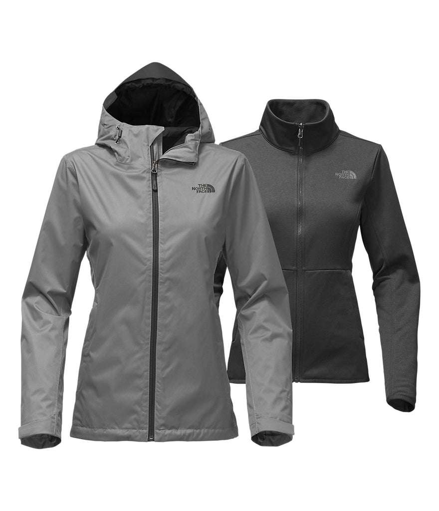 The North Face Womens Arrowood Triclimate Jacket-Mid Grey Dobby