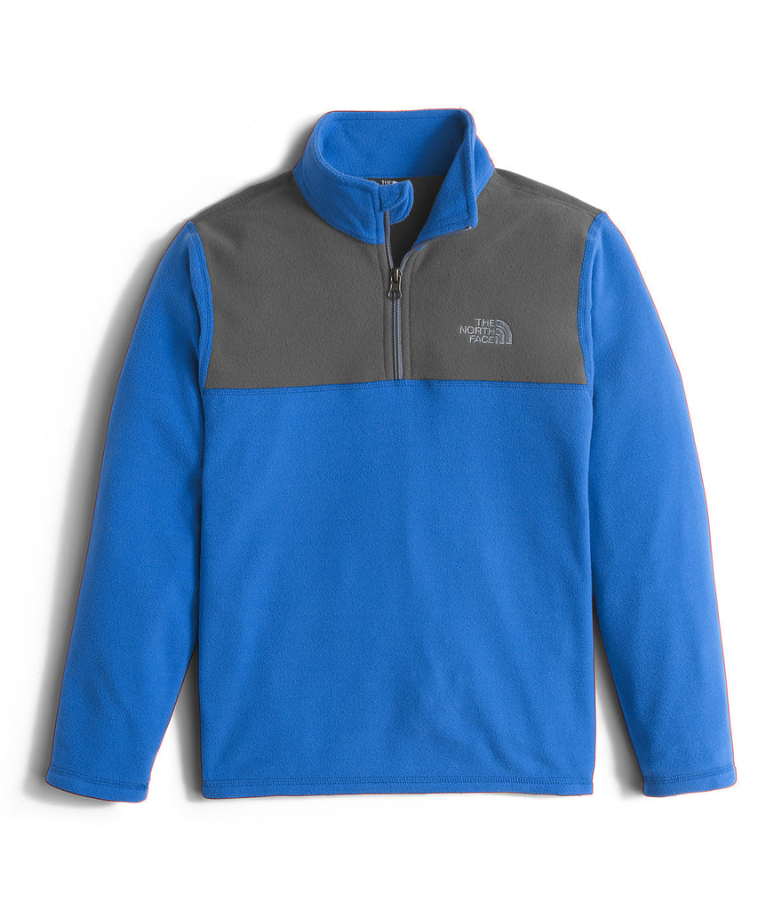 The North Face Boys Glacier 1/4-Zip Fleece Pullover-Jake Blue - Bennett's Clothing