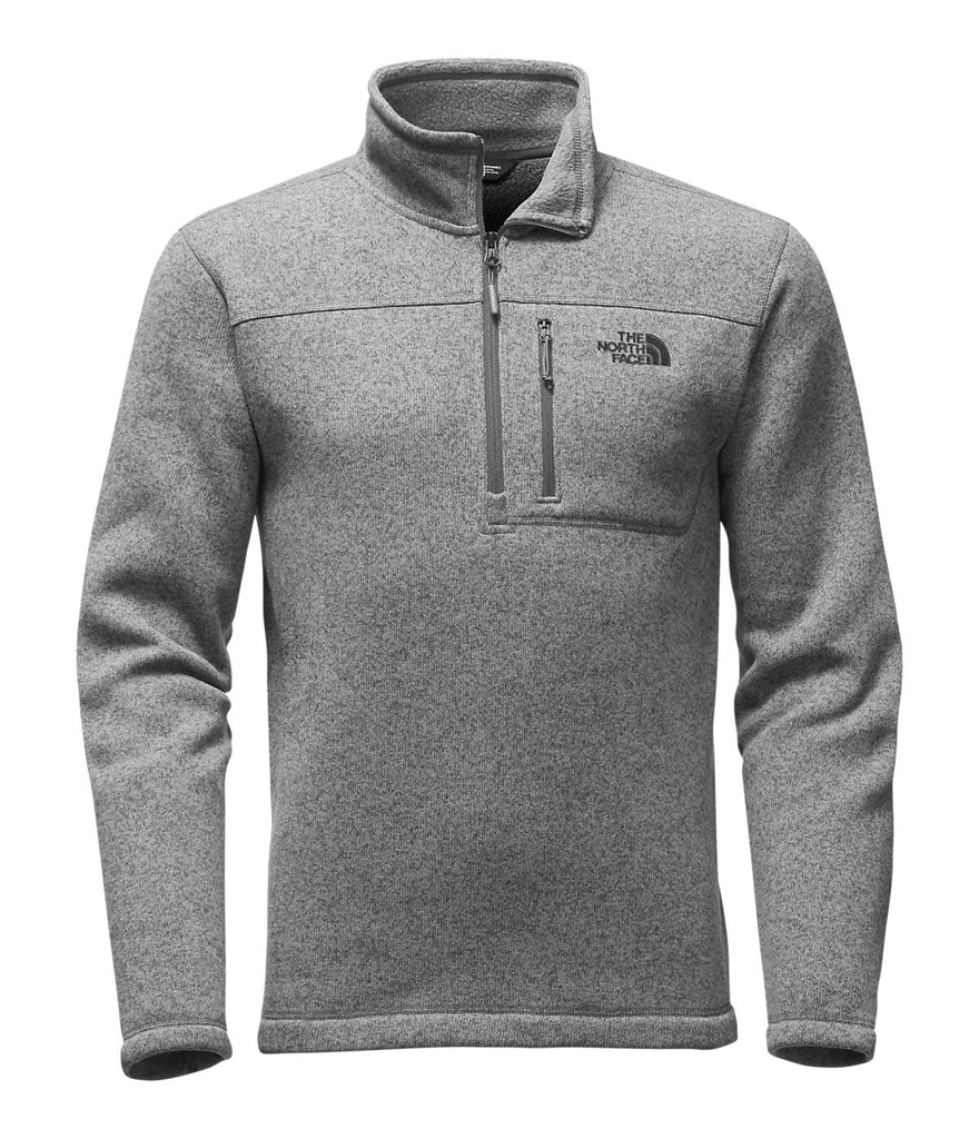 The North Face Mens Gordon Lyons Quarter Zip Pullover-Grey Heather - Bennett's Clothing