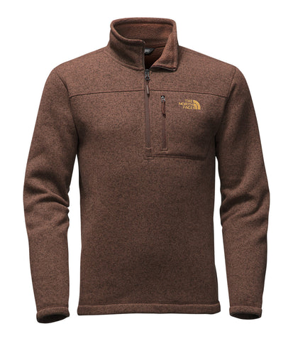 The North Face Mens Gordon Lyons Quarter Zip Pullover-Coffee Bean Brown - Bennett's Clothing