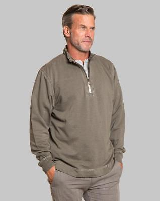True Grit Cashmere-Soft Fleece Pullover-Jeep