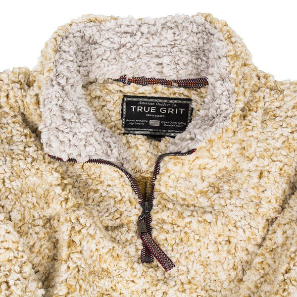 True Grit Frosty Tipped ¼ Zip Fleece Pullover-Maize - Bennett's Clothing - 2