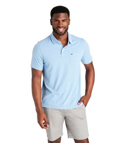 Vineyard Vines Pinstripe Edgartown Polo has easy on-the-go looks for the office or out on the town. Shop Bennetts Clothing for a large selection of the latest fashions from Vineyard Vines