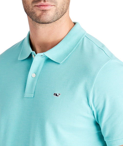 Vineyard Vines Stretch Cotton Pique Polo-Andros Blue