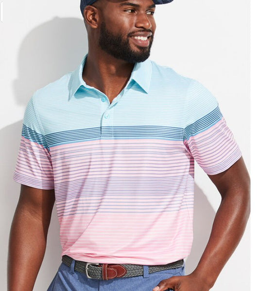 Vineyard Vines Engineer Stripe Sankaty Polo for men has a classic and comfortable fit. Shop Bennetts for the brands you want with prices you will love.