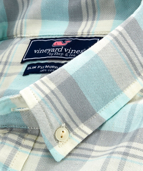 Vineyard Vines Slim Fit Tamarind Longshore Shirt-Barracuda