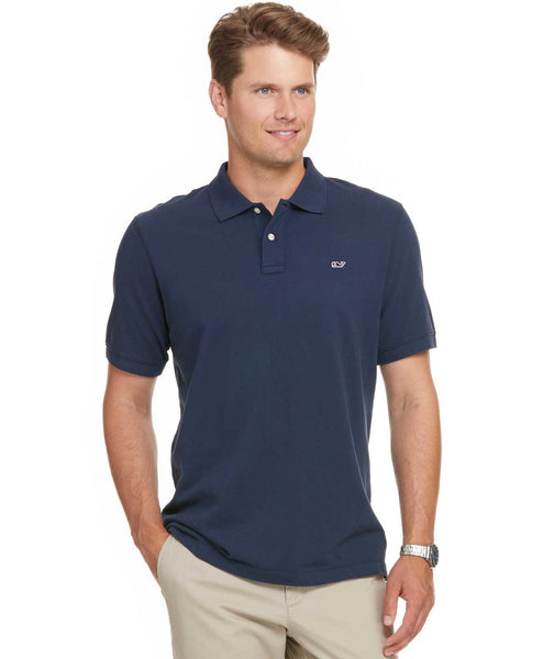 Vineyard Vines Classic Pique Polo-Navy