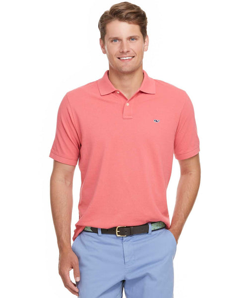 Vineyard Vines Classic Pique Polo-Jetty Red