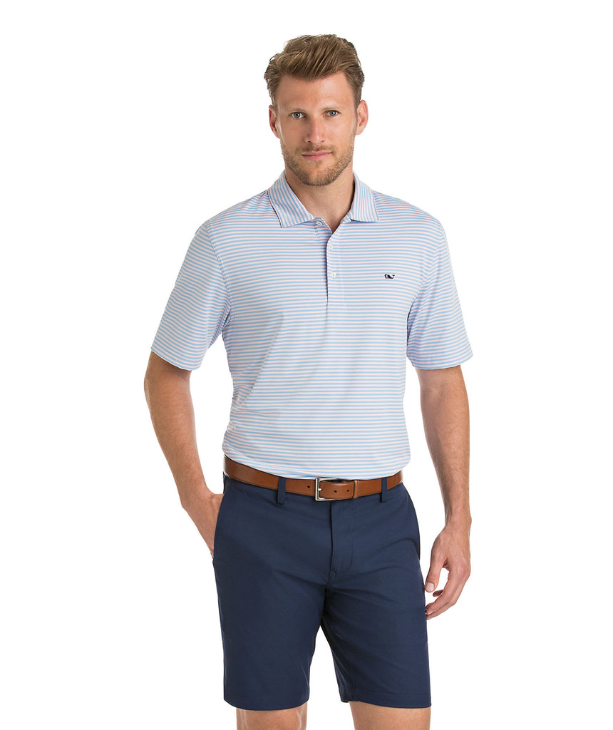 Vineyard Vines Kennedy Performance Golf Polo-Jake Blue