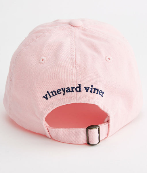 Vineyard Vines Whale Logo Baseball Hat-Pink - Bennett's Clothing - 3