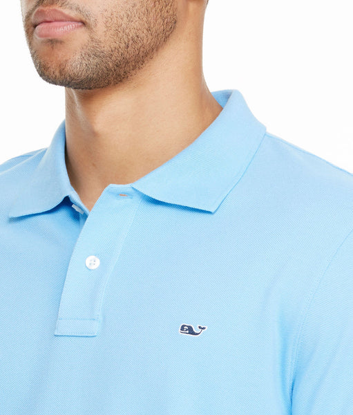 Vineyard Vines Classic Pique Polo-Ocean Breeze - Bennett's Clothing - 2