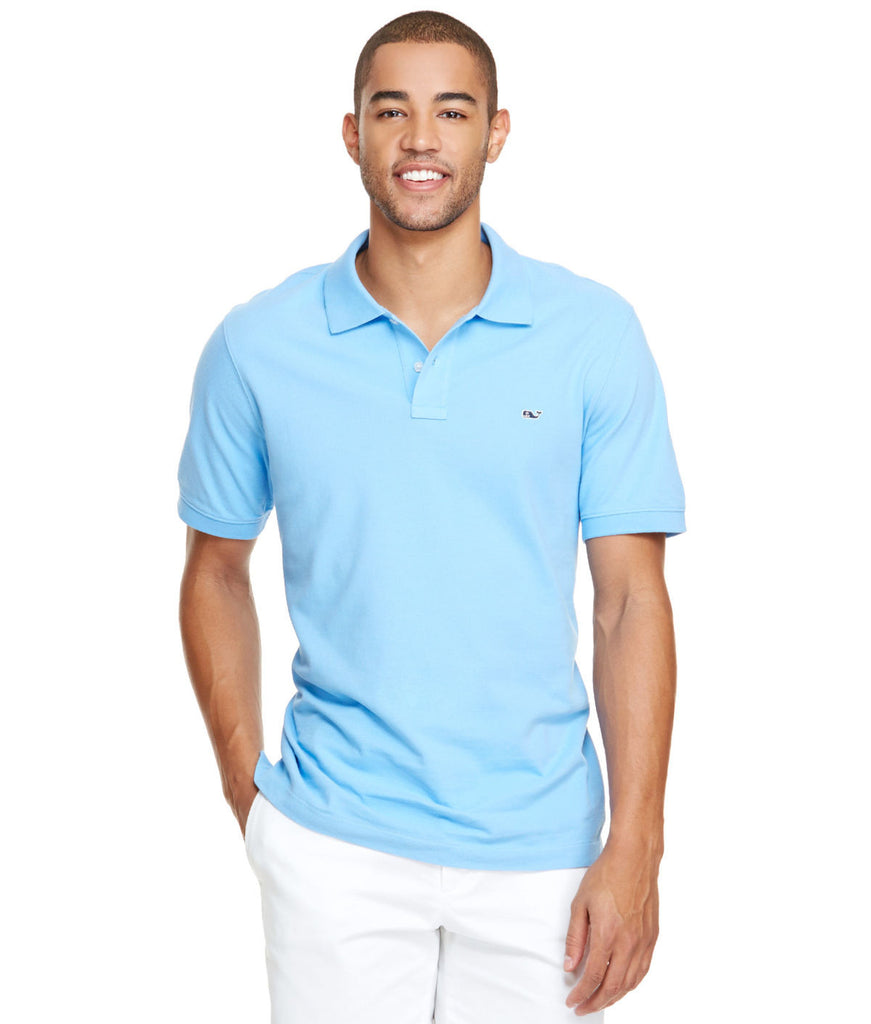 Vineyard Vines Classic Pique Polo-Ocean Breeze - Bennett's Clothing - 1