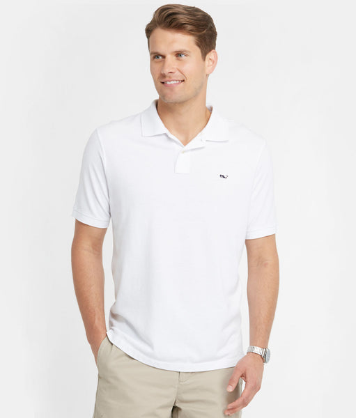 Vineyard Vines Classic Pique Polo-White - Bennett's Clothing - 1