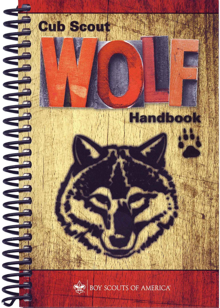 Coil Bound Wolf Scout Handbook -Shop Bennetts Clothing for all your Scouting needs. BSA Authorized Retailer for over 35 years