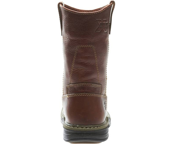 "Wolverine Mens Raider 10"" Pull-on Wellington Boot-Brown"