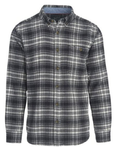 Woolrich Men's Trout Run Shirt-Black Hunt Plaid
