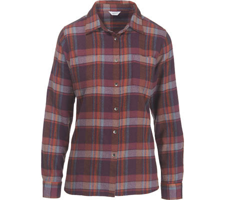 Woolrich Women's Pemberton Flannel Shirt-Burgundy - Bennett's Clothing