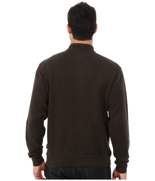 Woolrich Men's Bromley Half Zip Pullover-Dark Loden Heather - Bennett's Clothing - 3