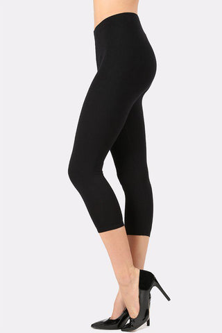 Zenana Capri cotton leggings-Shop Bennetts Clothing for the brands you love