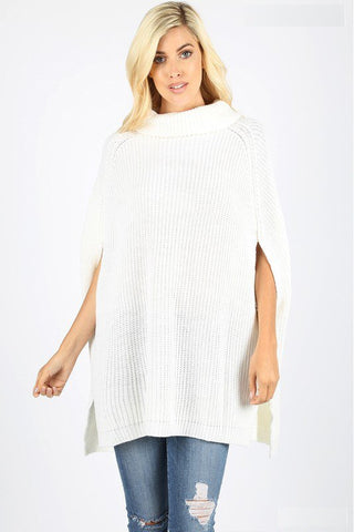 Trendy Turtle Neck Poncho Sweater -Shop Bennetts Clothing for the latest in womens fashions with same day shipping