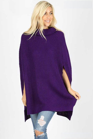 Stylish Turtle Neck Poncho Sweater -Shop Bennetts Clothing for the latest in womens fashions with same day shipping