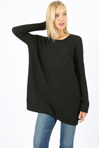 Zenana Brushed Thermal Waffle Sweater is a great layering top. Shop Bennetts Clothing for the latest in womens fashions from the brands you love