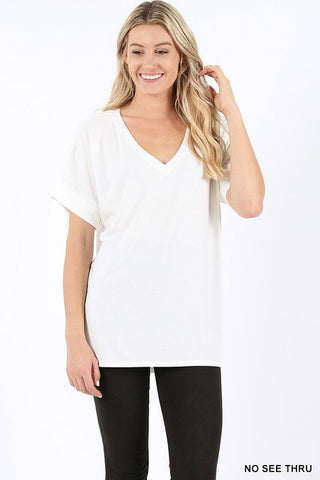 Zenana V-Neck Hi-low hem Top is a great transitional top. Shop Bennetts Clothing for the latest in womens fashions