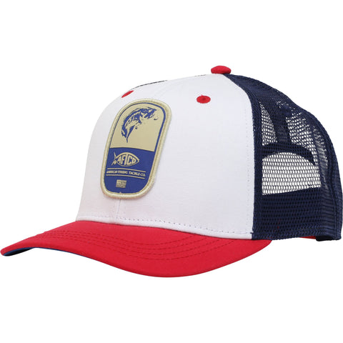 Aftco Flip Mesh Trucker Hat was made for the patriotic angler. Shop Bennetts Clothing for a large selection of Aftco hats and shorts.