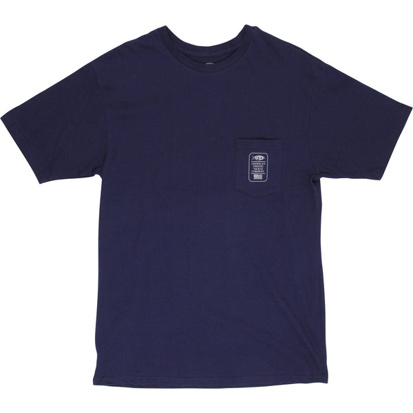 AFTCO Alpha Short Sleeve T-Shirt-Navy