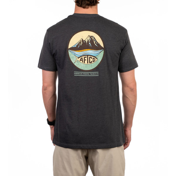 AFTCO Denver Short Sleeve T-Shirt-Charcoal