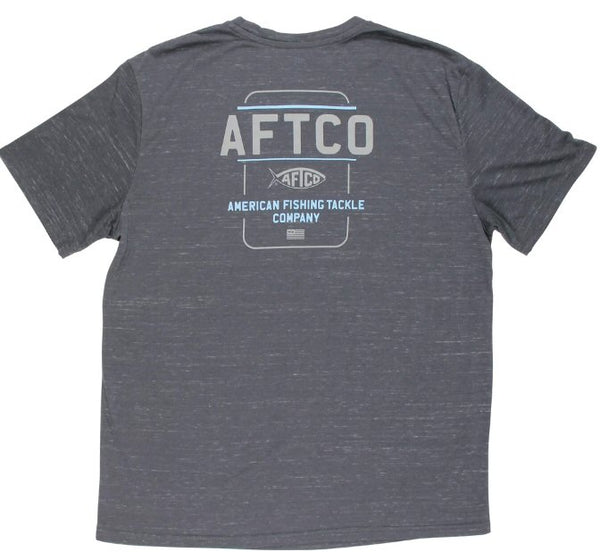 AFTCO Release Short Sleeve Technical T-Shirt-Heather Charcoal