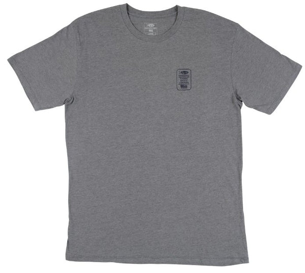 AFTCO Lemonade Short Sleeve T-Shirt-Graphite Heather