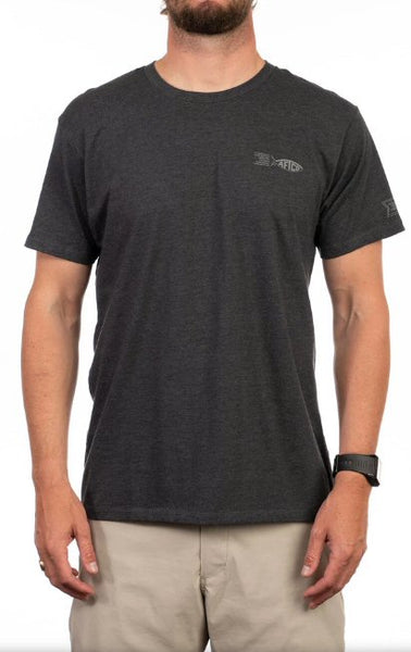 AFTCO School Short Sleeve T-Shirt-Charcoal Heather