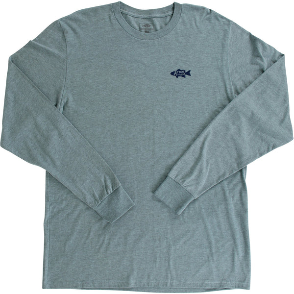 AFTCO Driftwood Long Sleeve T-Shirt-Moonstone Heather