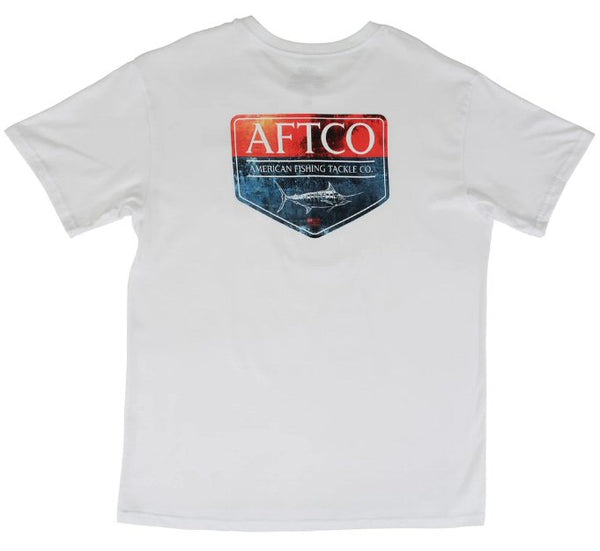 Aftco Splatter t-shirt was made for anglers that love American made with style and comfort. Shop Bennetts Clothing for a large selection of Aftco hats and shorts with same day shipping.