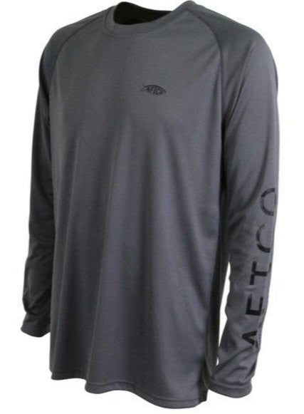 AFTCO Samurai Performance Long Sleeve Fishing Shirt-Charcoal