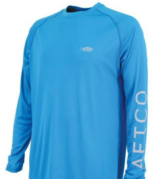 AFTCO Samurai Performance Long Sleeve Fishing Shirt-Vivid Blue