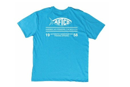 AFTCO Don't Label Me T-Shirt-Turquoise Heather - Bennett's Clothing
