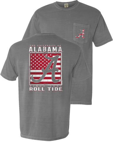 Bama Gridiron Wood Flag t-shirt upgrades your game day style. Shop Bennett's for the brands you love shipped same day to your front door.