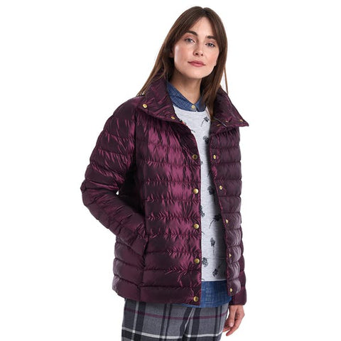 Barbour Womens Aerielle Quilt Jacket will add a pop of color to your wardrobe. Shop Bennetts Clothing for a large selection of womens outdoors wear.
