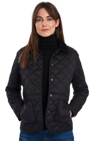 Barbour Womens Deveron Quilted Jacket-Black
