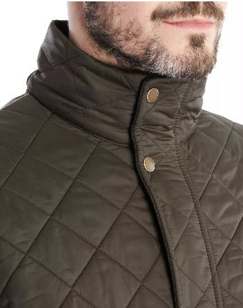 Barbour Mens Hawkshead Quilted Jacket-Olive
