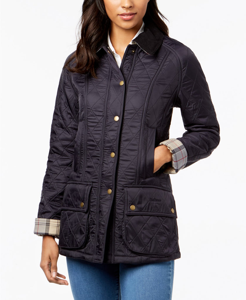 Barbour Womens Beadnell Polarquilt Jacket-Navy